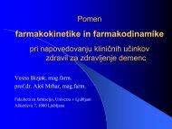Diplomska naloga - Fakulteta za farmacijo - Univerza v Ljubljani