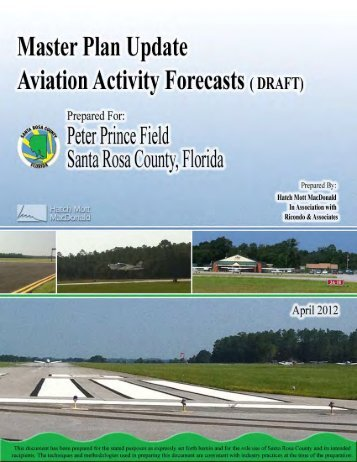 Aviation Forecast Report, Draft - Apr. 18, 2012 - Santa Rosa County