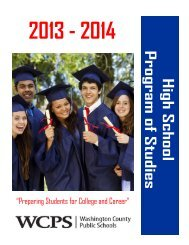 High School Program of Studies - Washington County, MD Public ...