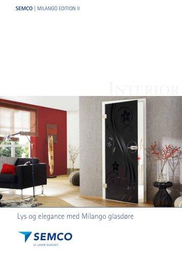 Milango glasdøre - Semcoglas