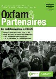 Oxfam&partenaires 21 - Les multiples visages de la solidarité