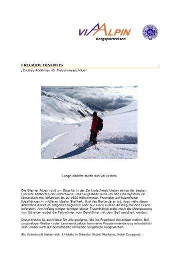 FREERIDE DISENTIS - Via-Alpin.de
