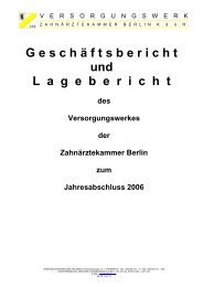 Jahr 2006 als PDF-Datei - Versorgungswerk der Zahnärztekammer ...