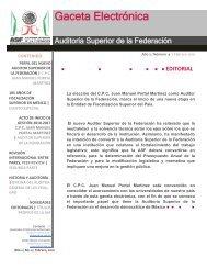 Año 2 / Número 4   Febrero 2010 - Auditoría Superior de la Federación