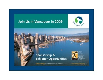 Join Us in Vancouver in 2009 - Canadian Athletic Therapists ...