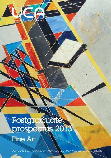 Postgraduate prospectus 2013 - holding page - University for the ...
