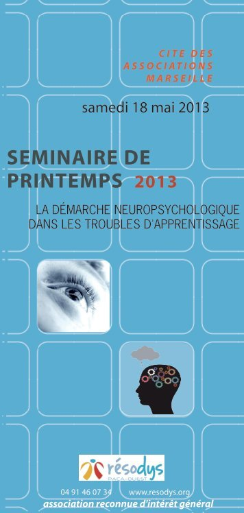 SEMINAIRE DE PRINTEMPS 2013 - Resodys