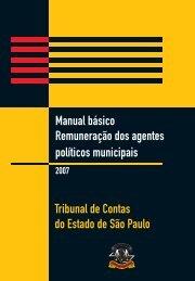 Remuneração dos Agentes Políticos Municipais - Tribunal de ...
