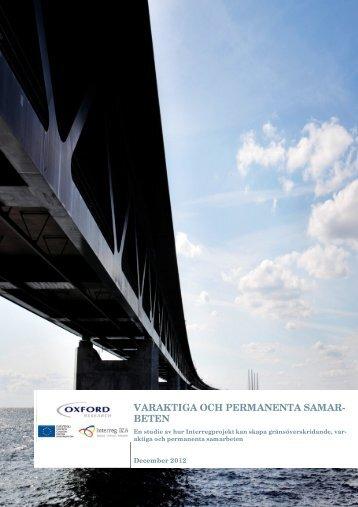 varaktiga och permanenta samarbeten - Interreg IVA