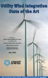 Utility Wind Integration State of the Art - Utility Variable Generation ...