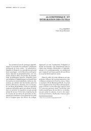 ALGORITHMIQUE ET INTEGRATION DES OUTILS