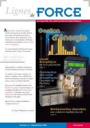 Lignes de Force n°2 (986 Kb / 8 pages ) - Socomec