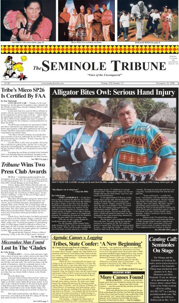 November 10 - Seminole Tribe of Florida