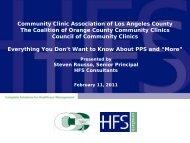 Council of Community Clinics CFO Quarterly Meeting