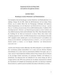 1 Kommission Kirchen im Dialog (KiD) der Konferenz Europäischer ...