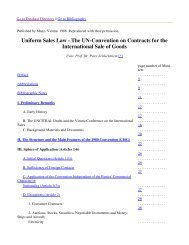 Uniform Sales Law - The UN-Convention on Contracts for the ...