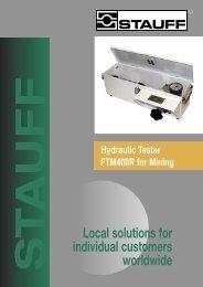 Hydraulic Tester FTM400R - STAUFF