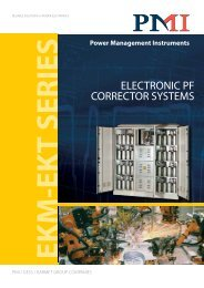 electronic pf corrector systems - PMI – Power Management ...