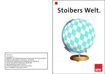 Broschüre Stoibers Welt - NRWSPD