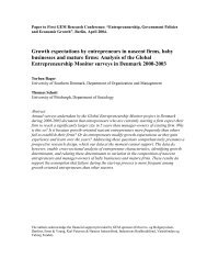 Growth expectations by entrepreneurs in nascent firms, baby ...
