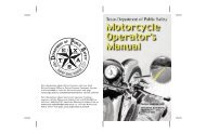 Motorcycle Operator's Manual - Texas Department of Public Safety