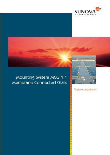 Mounting System MCG 1.1 Membrane-Connected Glass - Sunova
