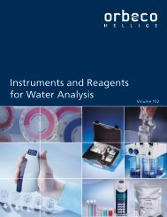 Instruments and Reagents for Water Analysis - Orbeco-Hellige