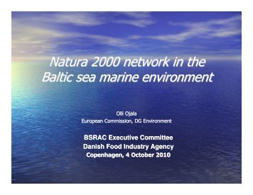 Natura 2000 Presentation - Baltic Sea RAC