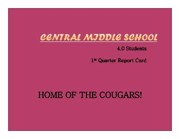 HOME OF THE COUGARS!