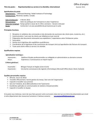job postings template - job posting template lallemand