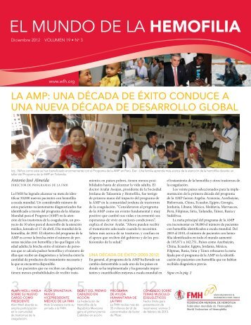 El mundo de la hemofilia - Diciembre 2012 Volumen 19 No.3