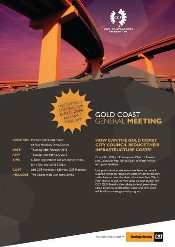 GOLD COasT general MEETING - Civil Contractors Federation