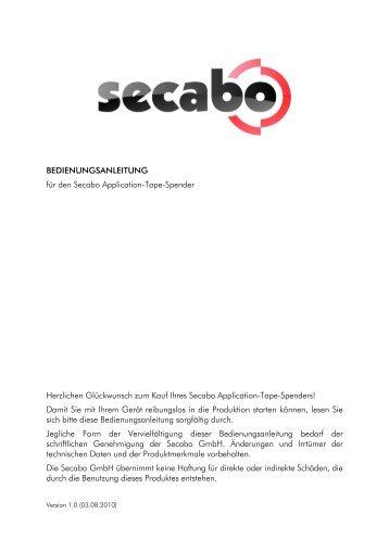 BEDIENUNGSANLEITUNG für den Secabo Application-Tape ...