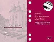Public Performance Auditing - IUIL
