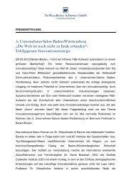 """3. Unternehmer-Salon Baden-Württemberg """"Die Welt ist noch nicht ..."""
