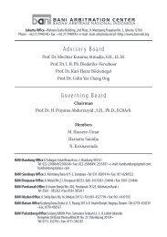 Buletin Arbitrase Nasional Indonesia Nomor 7/2009 - Badan ...