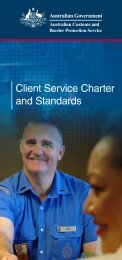 Client Service Charter and Standards - Australian Customs Service