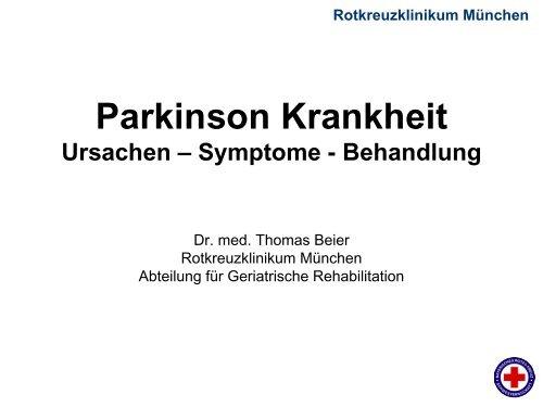 """Parkinson Krankheit """"Schüttellähmung"""" - Rotkreuzklinikum München"""
