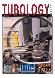 The Italian/English Quarterly for Tube and Profile ... - Tubology
