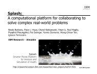 Splash: A computational platform for ... - Researcher - IBM