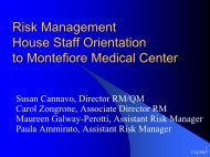 Risk Management House Staff Orientation to Montefiore Medical ...