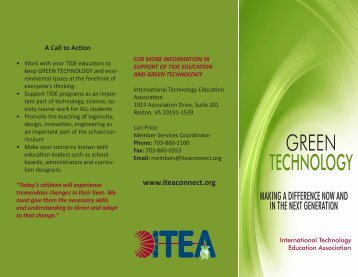 GREEN TECHNOLOGY - International Technology and Engineering ...