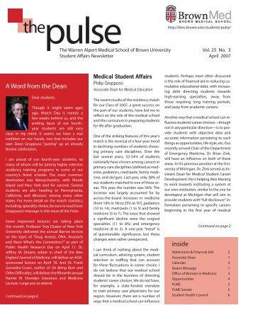 Vol. 25 Issue 3 — Apr - Alpert Medical School - Brown University
