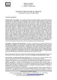 Venerdì 20 febbraio 2009 - Urban Center - Comune di Genova