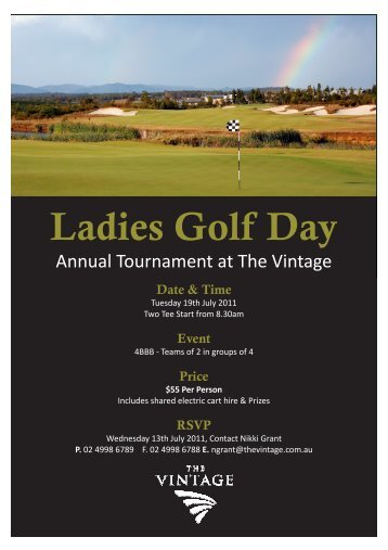 NHDLGA Annual Tournament at The Vintage