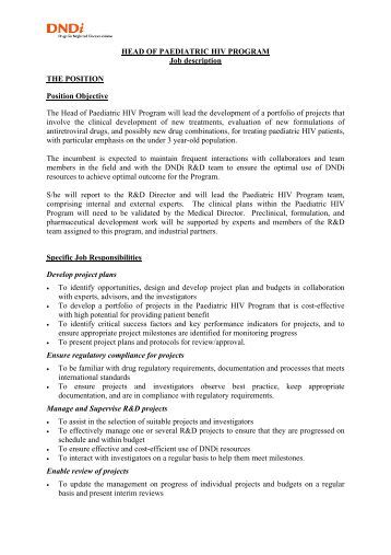 Medical Director Job Description Faculty Position Description