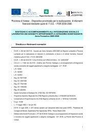 Dispositivo provinciale - la formazione professionale in provincia di ...