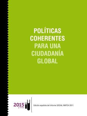 POLÍTICAS COHERENTES PARA UNA ... - Social Watch