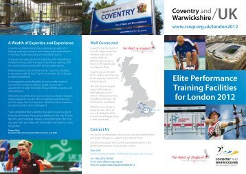 Elite Performance Training Facilities for London 2012