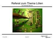 Referat zum Thema Löten - Projektlabor - TU Berlin